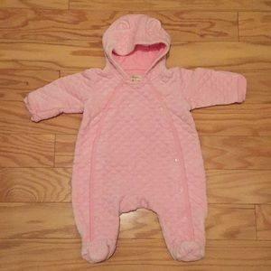 Girls 3 month quilted footie
